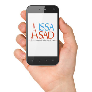 Issa Asad Logo in phone